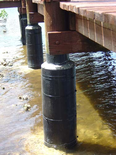 All Around Docks - Piling reinforcement system